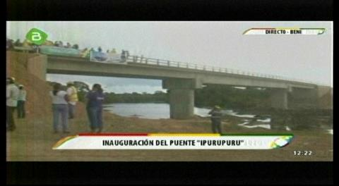 Evo entrega puente Ipurupuru que vincula cinco provincias en Beni