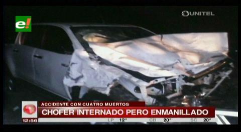 Policía interrogará a sobreviviente en accidente cerca de Roboré
