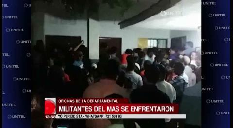 Militantes del MAS protagonizaron un enfrentamiento en su sede