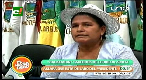 """Hackearon el """"Facebook"""" de Leonilda Zurita"""
