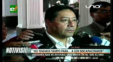 """Ministro Arce a los discapacitados: """"No tenemos tiempo para atenderlos"""""""