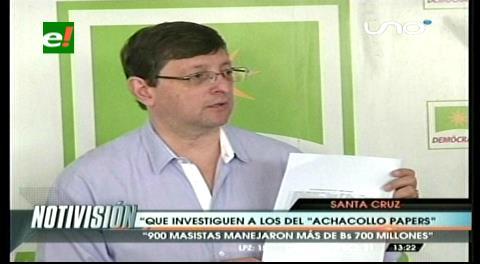 """Fondioc: Oposición pide investigar los """"Achacollo papers"""""""