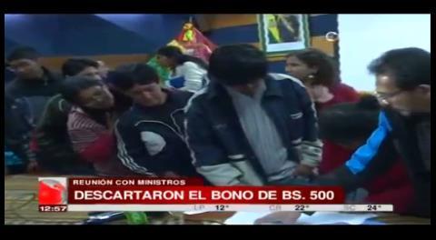 Un sector de discapacitados firma acuerdo sin tocar el tema del bono de 500 Bs.