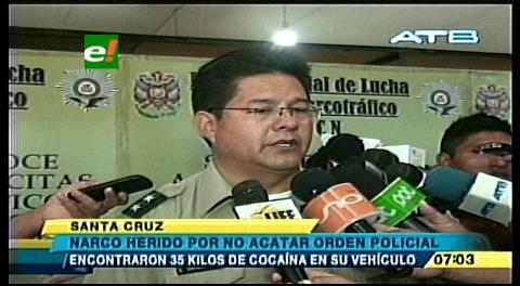A la cárcel, narco herido por policías