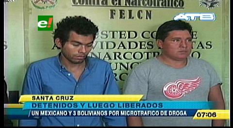 Mexicano y 3 bolivianos son detenidos vendiendo marihuana