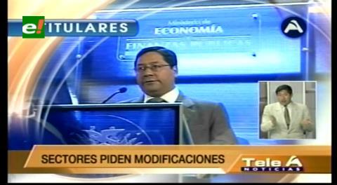 Titulares de TV: Ministro Arce anunció modificaciones al Código Tributario