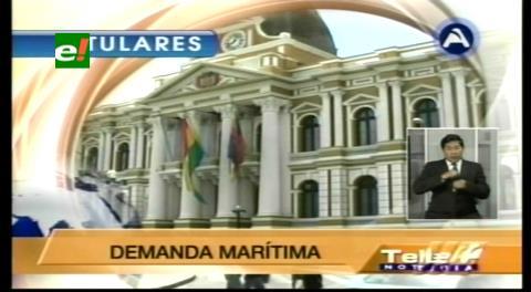 Titulares de TV: Senador Gonzáles le envió un libro de historia al canciller chileno, le pide que se ilustre