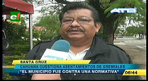 """Concejal Cahuana cuestiona el asentamiento de los """"nocheros"""" en áreas públicas"""