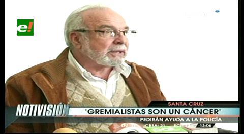 """Landívar dice que los gremialistas son un """"cáncer"""" que hay que extirpar"""