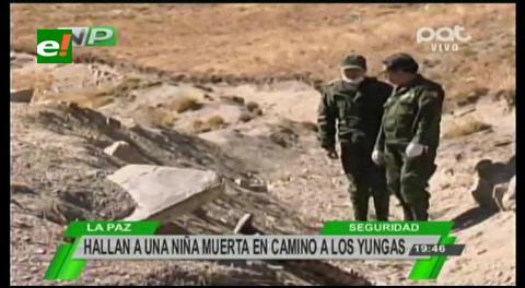 La Paz: Hallan el cadaver de una niña de 9 años en la carretera a Los Yungas