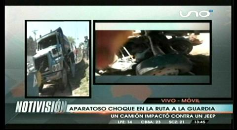 Aparatoso accidente en la ruta a La Guardia