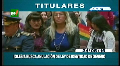 Titulares de TV: Iglesia Católica busca la anulación de la Ley de Identidad  de Género y se defina en un referéndum