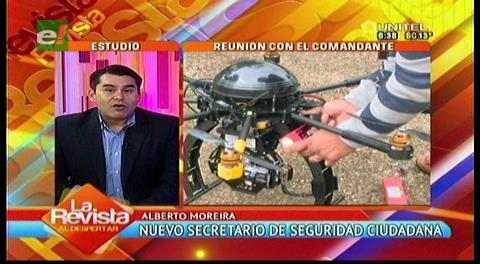 Moreira señala que la investigación del dron es un tema administrativo que ya no le compete