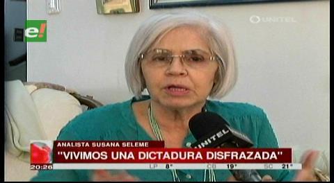 """Seleme: """"Vivimos en una democracia de mentira, es dictadura disfrazada"""""""