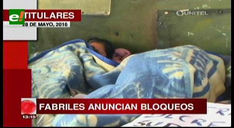 Titulares de TV: Fabriles anuncian bloqueos a partir del día lunes en apoyo a los trabajadores de Enatex