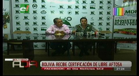 Gobierno: Ratificación de Bolivia como país libre de fiebre aftosa abre posibilidad de exportar carne