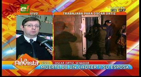 Senador Ortiz lamenta muerte de su chofer y esposa, ayudará a los huérfanos