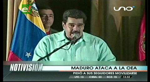 """Nicolás Maduro arremete contra la OEA y le dice """"fuera de Venezuela y América"""""""