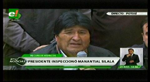 Morales anuncia la formación de un nuevo equipo de expertos para la demanda del Silala