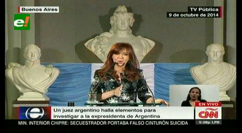 Juez halla elementos para investigar a la expresidenta Fernández de Kirchner