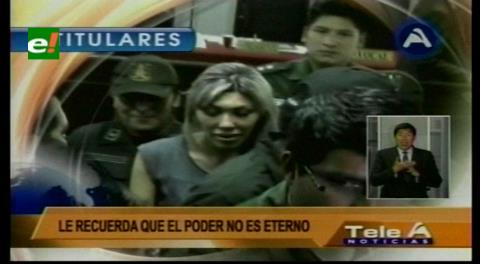 Titulares de TV: Gabriela Zapata revela supuestas conversaciones con Juan Ramón Quintana vía WhatsApp