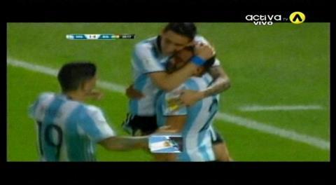 Cordoba: Argentina 1-0 Bolivia, abre el marcador Gabriel Mercado