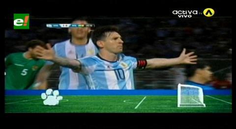 Tras tiro penal de Messi, Argentina le gana 2-0 a Bolivia