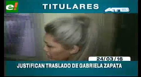 Titulares de TV: Mandan a Gabriela Zapata al penal de máxima seguridad de Miraflores de La Paz