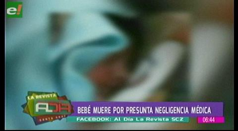 Bebé muere por presunta negligencia médica