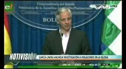 Titulares de TV: Vicepresidente pide investigar denuncias de abuso sexual dentro de la Iglesia Católica