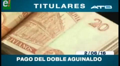 Titulares de TV: Microempresarios del país no pagarán el doble aguinaldo