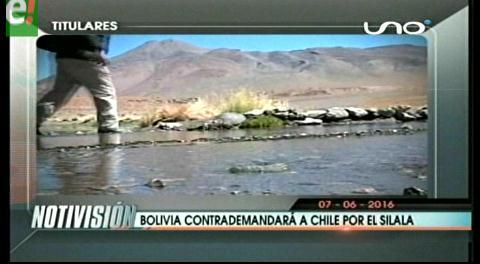 Titulares de TV: Bolivia contrademandará a Chile por el Silala ante La Haya