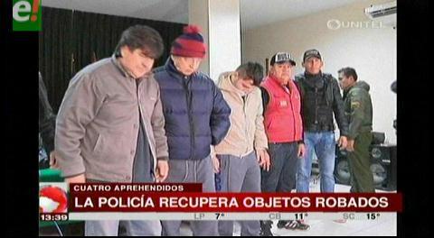 Policía presenta a atracadores y recupera objetos robados