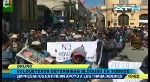 Oruro. Volqueteros anuncian bloqueos en el departamento