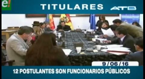 Titulares de TV: 12 postulantes a Contralor del Estado son funcionarios públicos