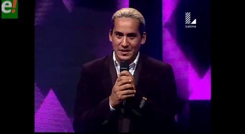 Cristian Castro boliviano compite en Perú