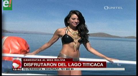 Bellezas bolivianas disfrutaron su estadía en la Sede de Gobierno
