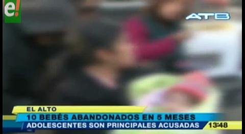 El Alto: Al menos dos bebés son abandonados cada mes