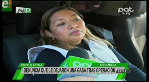 Mujer denuncia supuesta negligencia médica en la clínica Ucebol