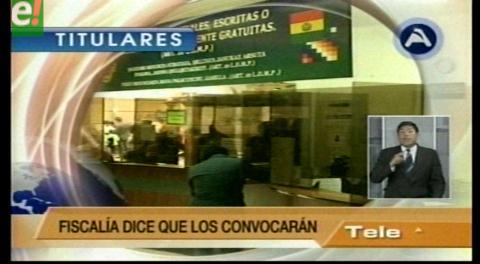 Titulares de TV: Opositores Murillo y Navarro se ponen a disposición de la Fiscalía para declarar en caso Zapata