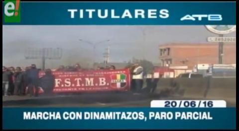 Titulares de TV: Marcha de la COB se abrió paso a dinamitazos en La Paz
