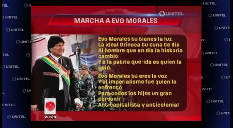 Conozca la letra de la «Marcha a Evo Morales» hecha por una unidad militar