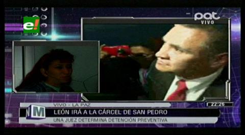 """Esposa de León: """"Por una fotocopia de la libreta del servicio militar lo están enviando a San Pedro"""""""