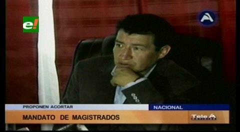 Diputado Borda plantea acortar mandato de magistrados