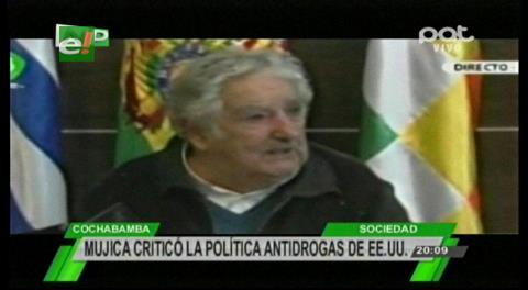 """Mujica: EEUU tiene una política """"cínica"""" contra el narcotráfico"""