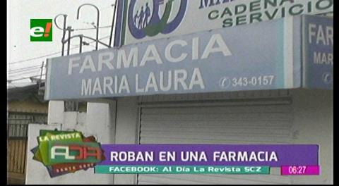 Delincuentes ingresan a robar en una farmacia de la avenida Cristo Redentor