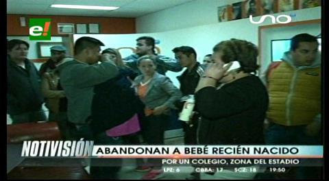 Santa Cruz: Mujer abandona a su bebé en la puerta de un colegio