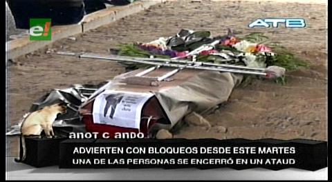 Discapacitados adoptan protestas extremas en Cochabamba