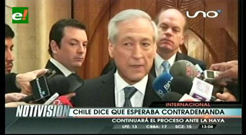 """Canciller chileno asegura que contrademanda boliviana era """"previsible"""""""