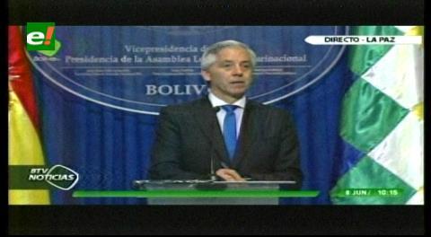 """Vice de Bolivia: demanda de Chile por el Silala es una """"chamboneada, despropósito y aberración"""""""